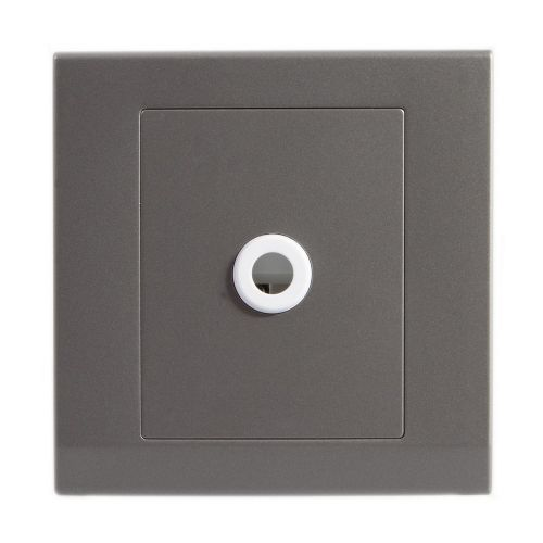 Simplicity Grey Screwless 25A Flex Outlet Socket 07782
